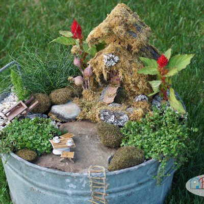Washtub Fairy Garden