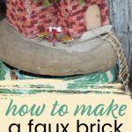 how to make a diy brick fairy house