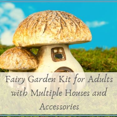 Fairy Garden Kit for Adults with Multiple Houses and Accessories
