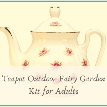 Teapot Outdoor Fairy Garden Kit for Adults