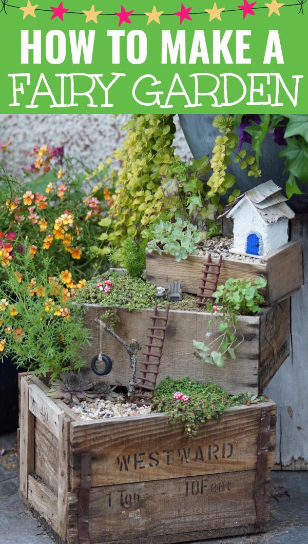 making a DIY fairy garden