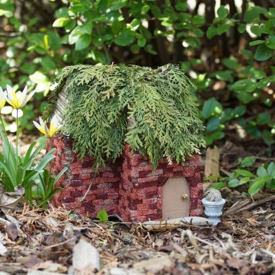 DIY Faux Brick Fairy House