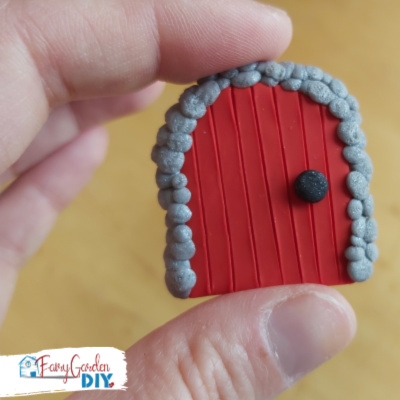 Simple Polymer Clay Fairy Door