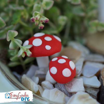 How to Make Cute Polymer Clay Toadstools for a Fairy Garden