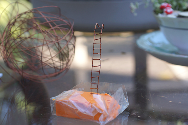how to make a ladder for a teacup fairy garden