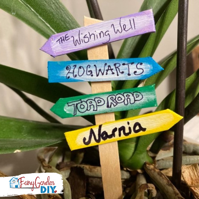 DIY popsicle stick fairy garden accessories
