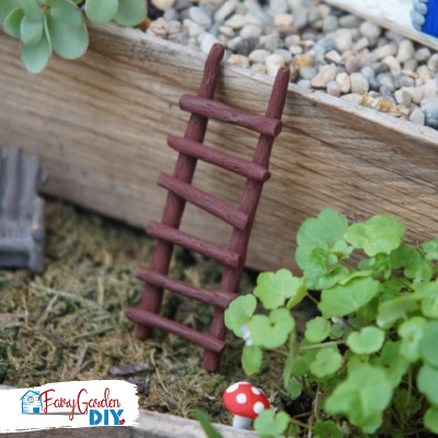 DIY Polymer Clay Fairy Garden Ladder