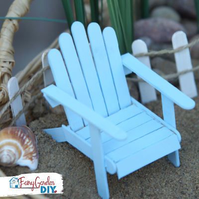 DIY mini beach chair for fairy garden