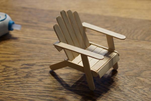 mini Adirondack chair for fairy garden