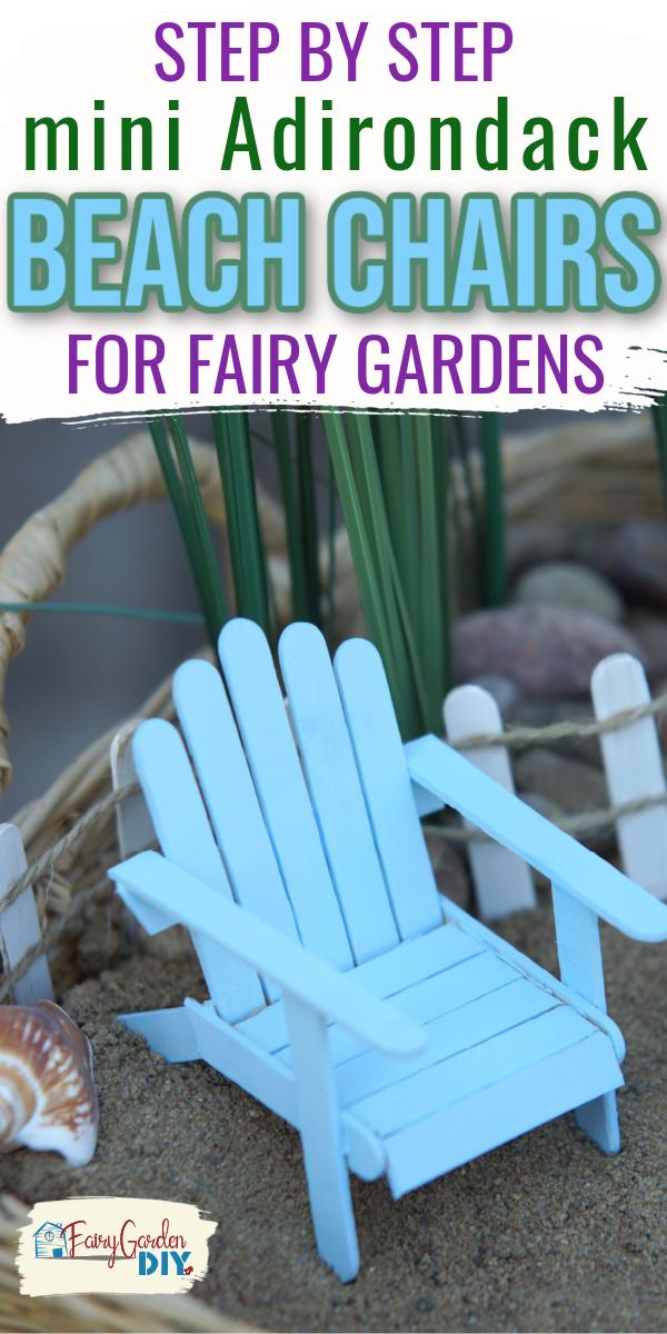 DIY fairy garden beach chair