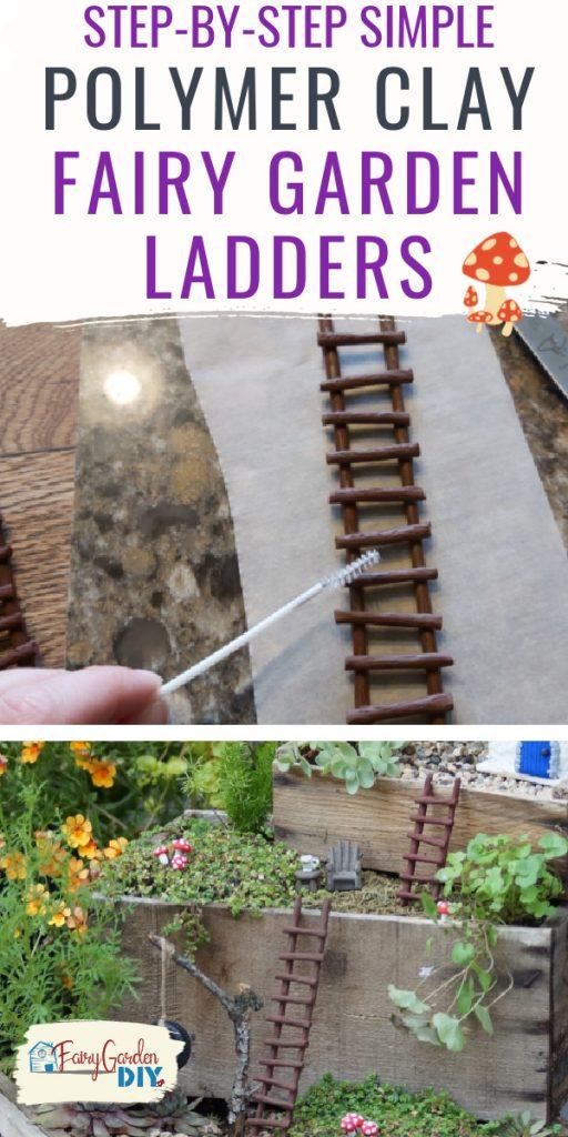 fairy garden accessory - ladder