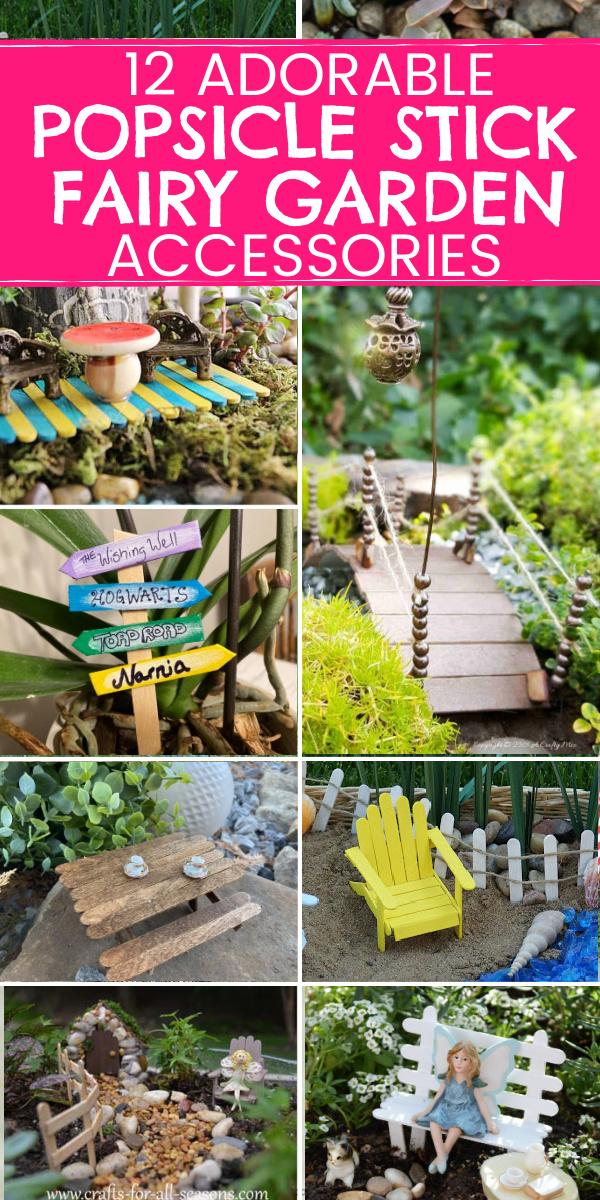 DIY popsicle stick fairy garden accessories