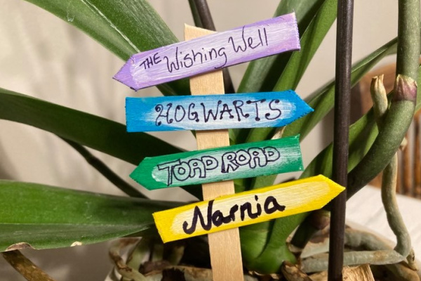 Popsicle Stick Fairy SignPost for kids