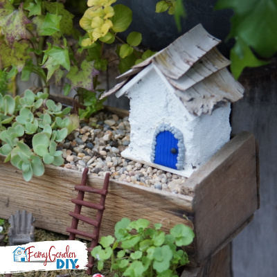 Simple DIY Concrete Fairy House