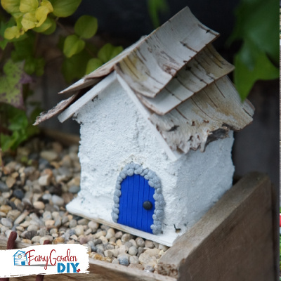 fairy house ideas: concrete house