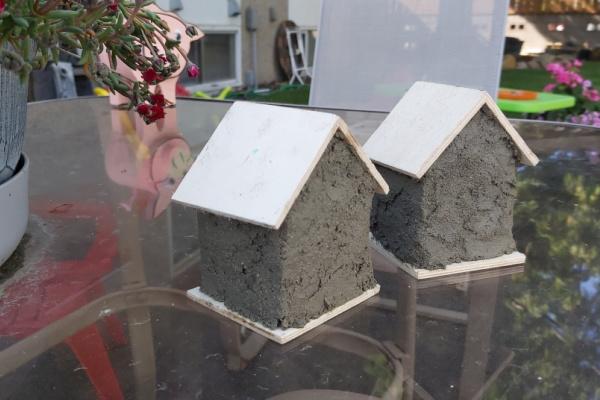 DIY concrete fairy house