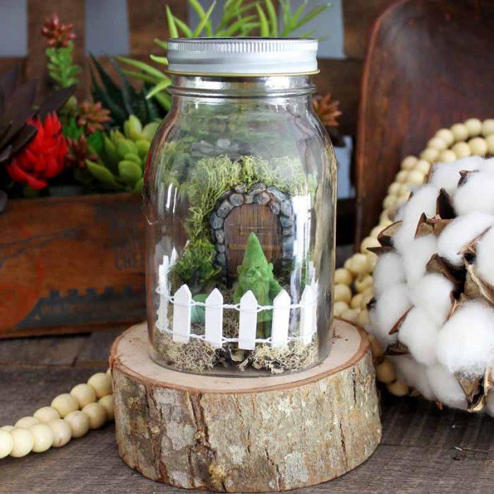fairy garden container idea: jar