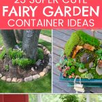 outdoor fairy garden container ideas