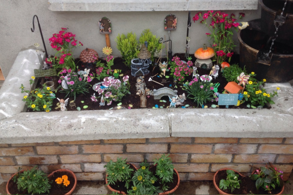 out door fairy garden container ideas