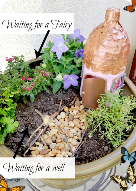 fairy house ideas: Make a fairy house from an upcycled soda bottle