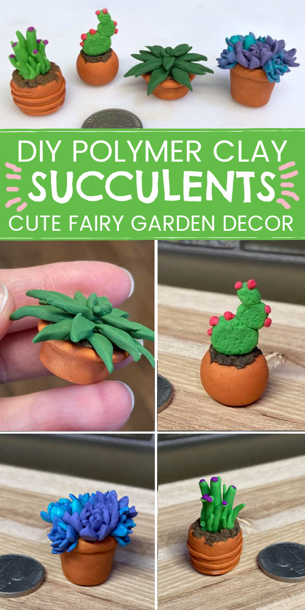 How to Make Polymer clay Succulents for Fairy Gardens