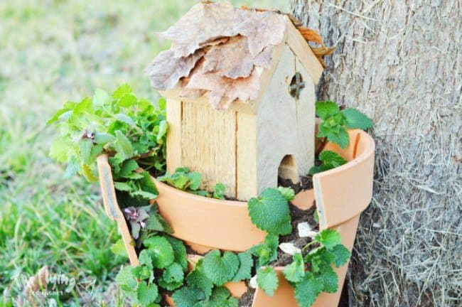 simple wooden House for miniature garden