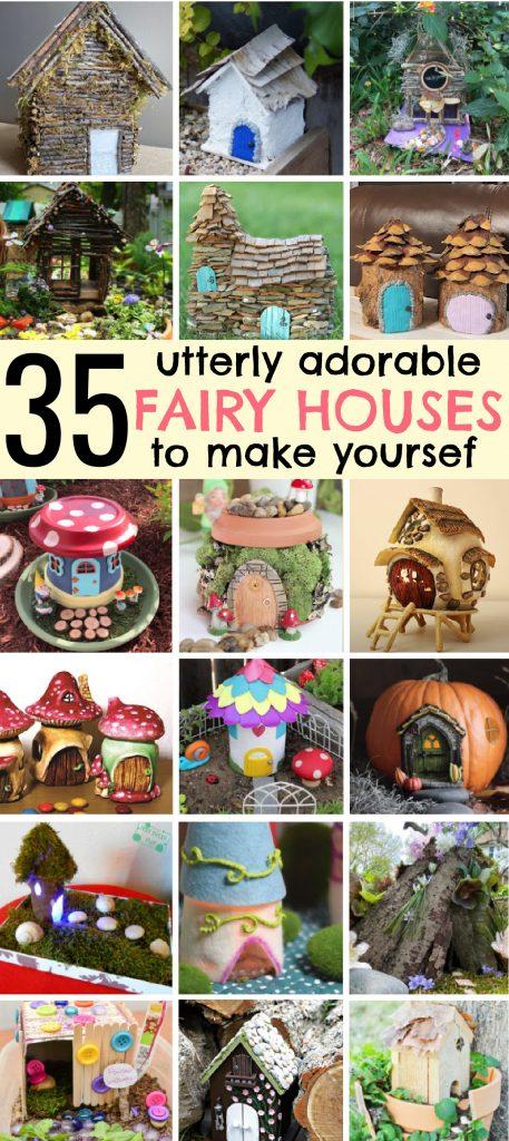 Adorable DIY Fairy Houses