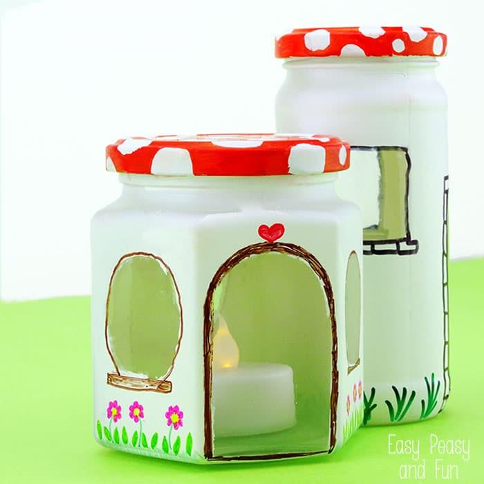 Upcycled Jar Fairy House