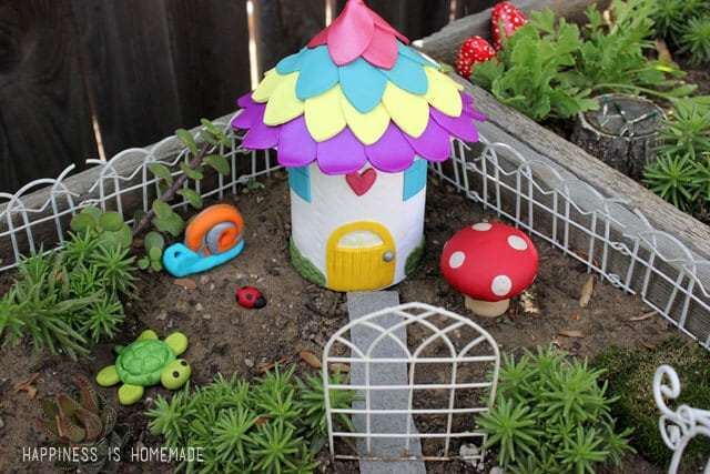 30+ DIY Fairy House Ideas - simple clay fairy house