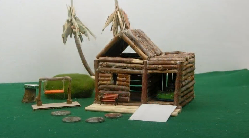 Fairy Garden House Made with Twigs