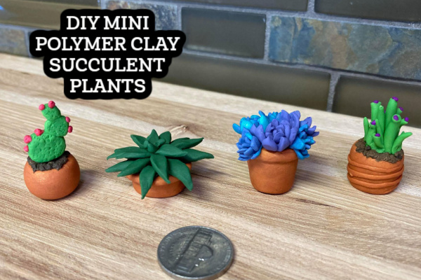Mini Polymer Clay Succulents from Polymer Clay