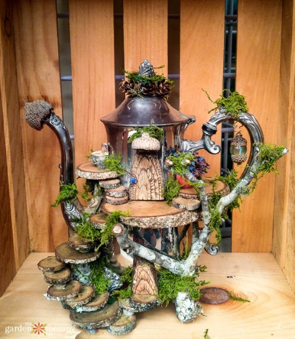 fairy house ideas teapot