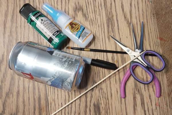 """supplies for """"how to make miniature garden tools"""""""