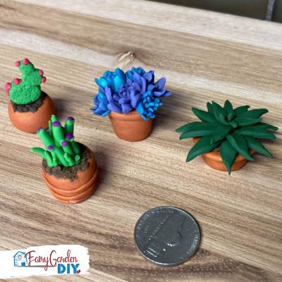 DIY Mini Polymer Clay Succulents