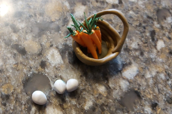 how to make miniature veggies from polymer clay