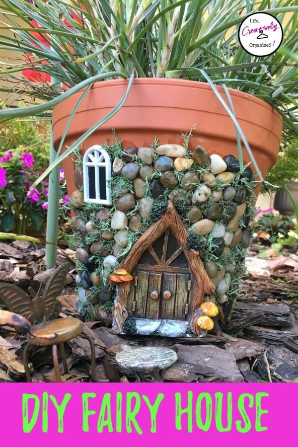 30+ DIY Fairy House Ideas - flower pot House