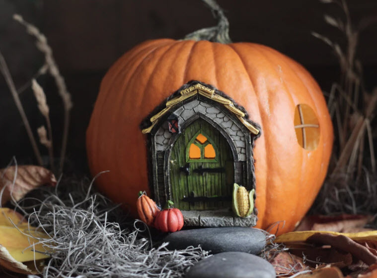 Cute pumpkin fairy house