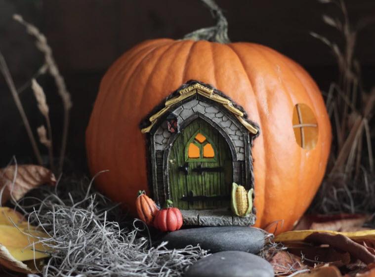 Cute pumpkin fairy house