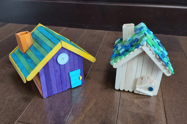popsicle stick fairy house tutorial