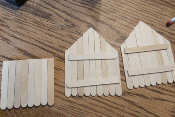 how to make a popsicle stick fairy house