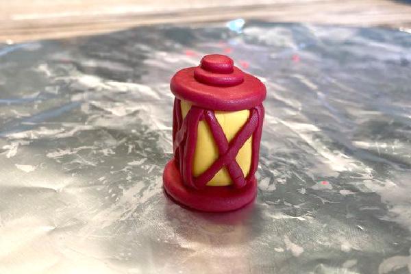 simple polymer clay lantern for a fairy garden