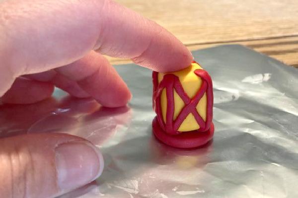 making a polymer clay lantern for fairy garden decor