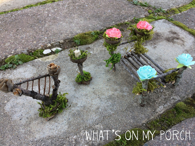 DIY fairy garden accessories made from twigs