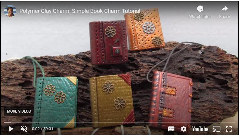 polymer clay books as fairy garden accessories