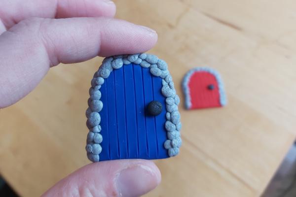 DIY Polymer Clay Fairy Garden Accessories i door