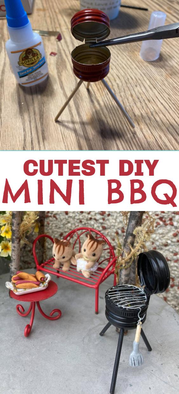 how to make a miniature BBQ