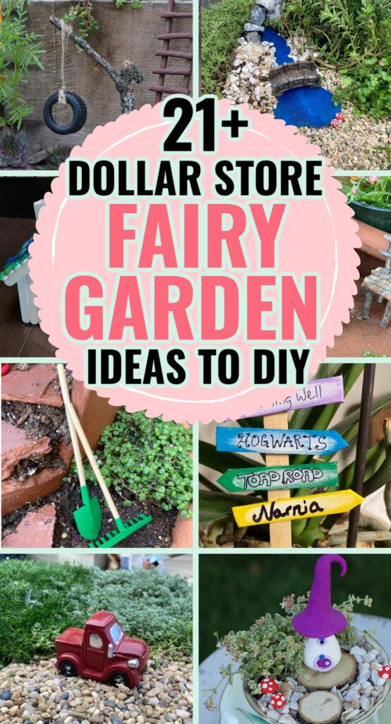fairy garden ideas from the dollar store